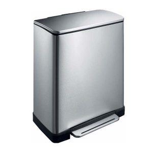 dubbele-vuilnisbak-EKO-E-Cube-28-18-Liter-Mat-RVS