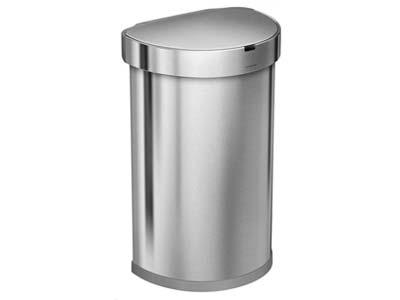 afvalbak-restaurant-Simplehuman-Semi-round-Sensor-Liner-Pocket-45-Liter