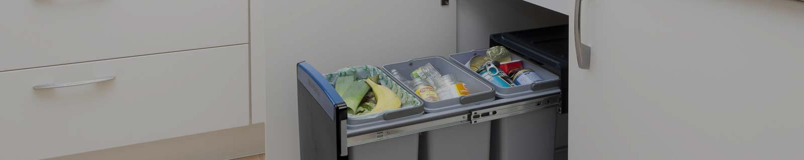 Vaak Inbouw prullenbak voor uw keukenkast - Bekijk inbouw afvalbakken OB49
