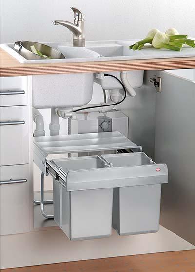 Top Inbouw prullenbak voor uw keukenkast - Bekijk inbouw afvalbakken QT64