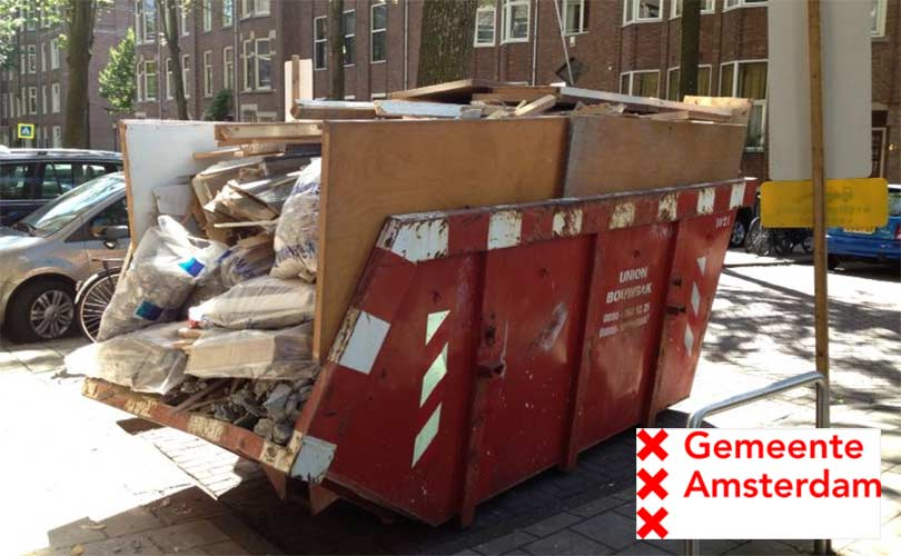Vergunning container op straat