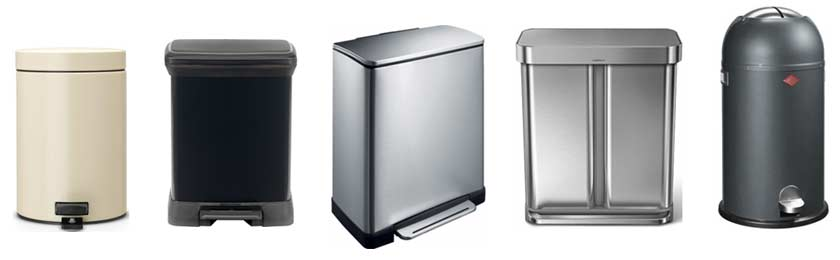 brabantia-curver-eco-simplehuman-wesco-pedaalemmers